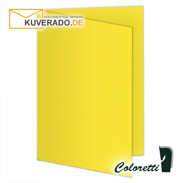 Goldgelbe Doppelkarten in 220 g/qm von Coloretti