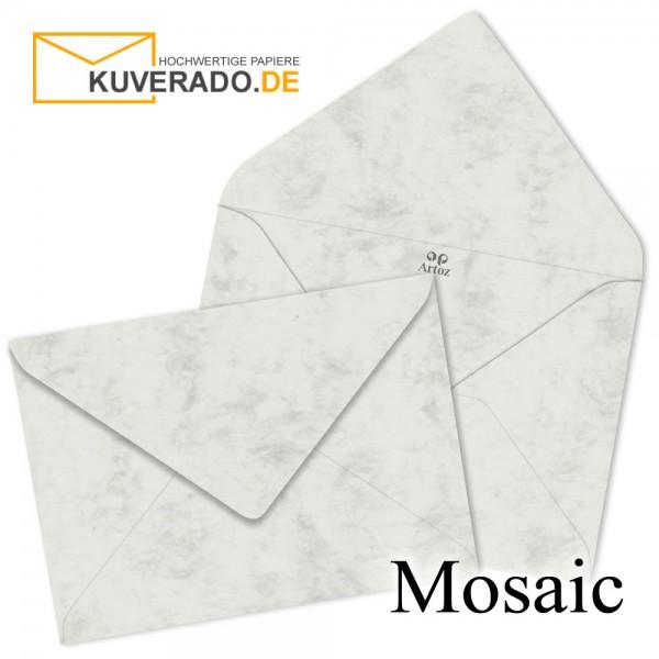 Artoz Mosaic marmorierte Briefumschläge in grau DIN B6