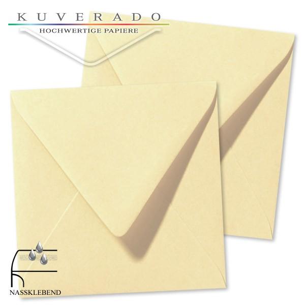 Beige Briefumschläge (Chamois) im Format quadratisch 120x120 mm