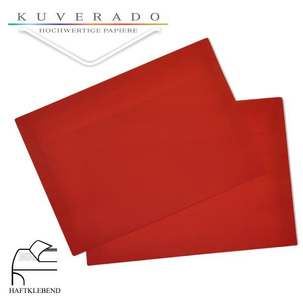 transparente Briefumschläge DIN C6 in rot