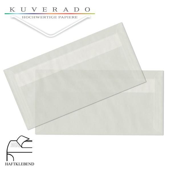 transparente Briefumschläge 125x235 mm in weiß