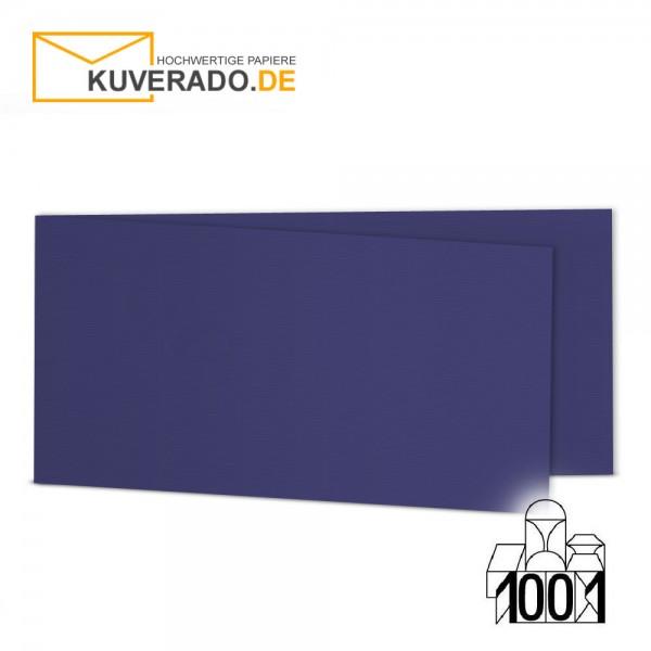 Artoz 1001 Faltkarten indigoblau DIN lang Querformat mit Wasserzeichen