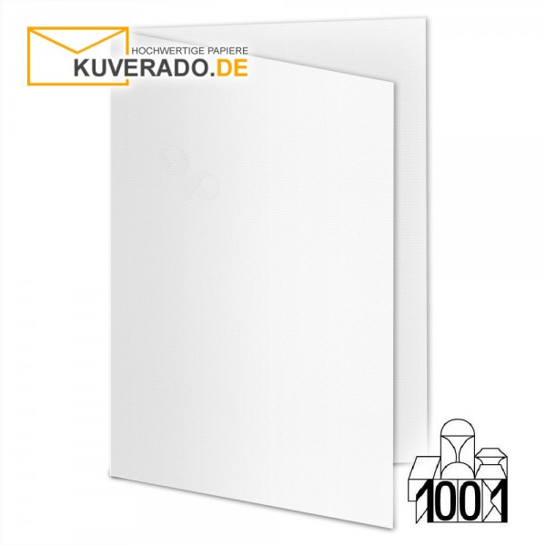 Artoz 1001 Faltkarten blütenweiß DIN E6 mit Wasserzeichen