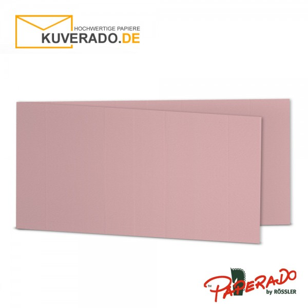 Paperado Karten in rose / rosa DIN lang Querformat