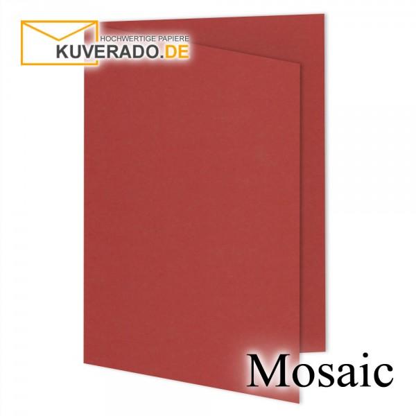 Artoz Mosaic feuerrote Doppelkarten DIN A5