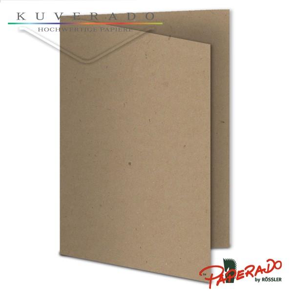 Paperado Karten aus braunem Kraftpapier DIN B6