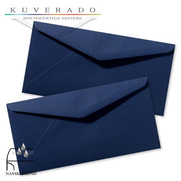 blaue Briefumschläge im Format DIN lang