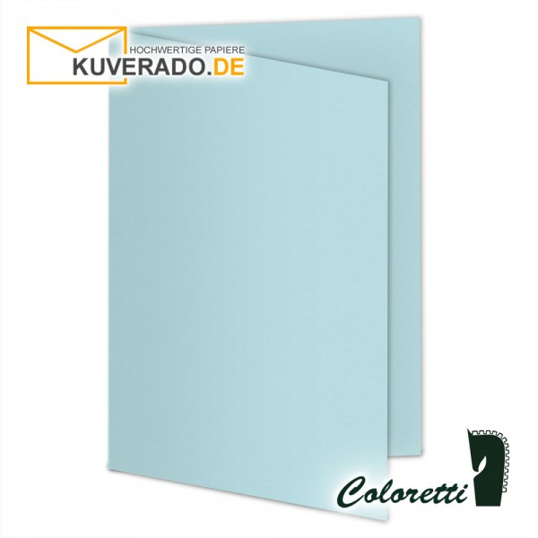Himmelblaue Doppelkarten in 220 g/qm von Coloretti