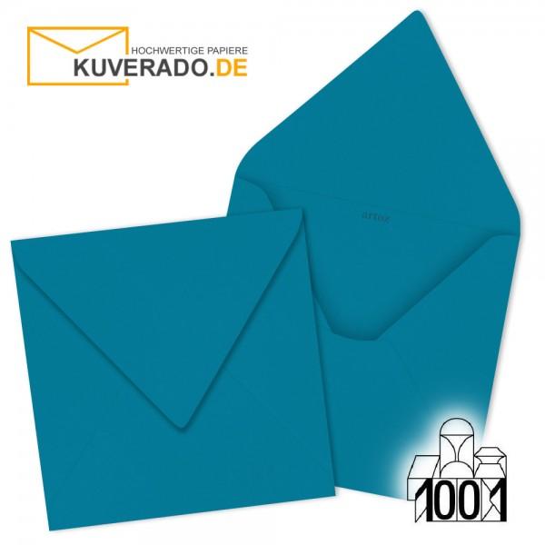 Artoz 1001 Briefumschläge petrol-blau quadratisch 135x135 mm