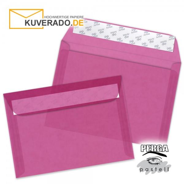 Artoz transparente Briefumschläge pink DIN B6
