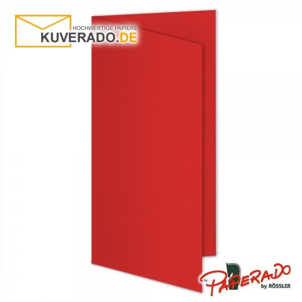 Paperado Karten in tomate rot DIN lang