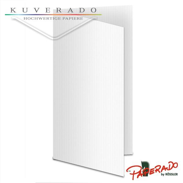 Paperado Karten in classic-rib weiß DIN lang