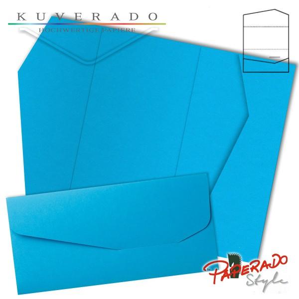 PAPERADO Style - Karte mit Einstecktasche in pacificblau