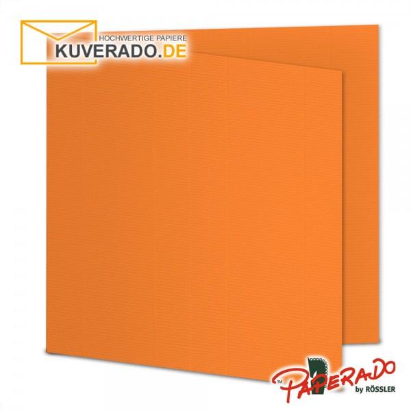 Paperado Karten in orange quadratisch