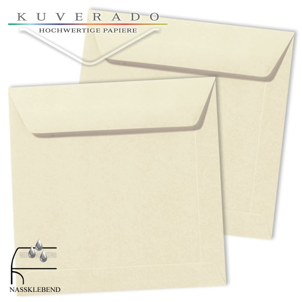 Beige Briefumschläge (Elfenbein) im Format quadratisch 170x170 mm