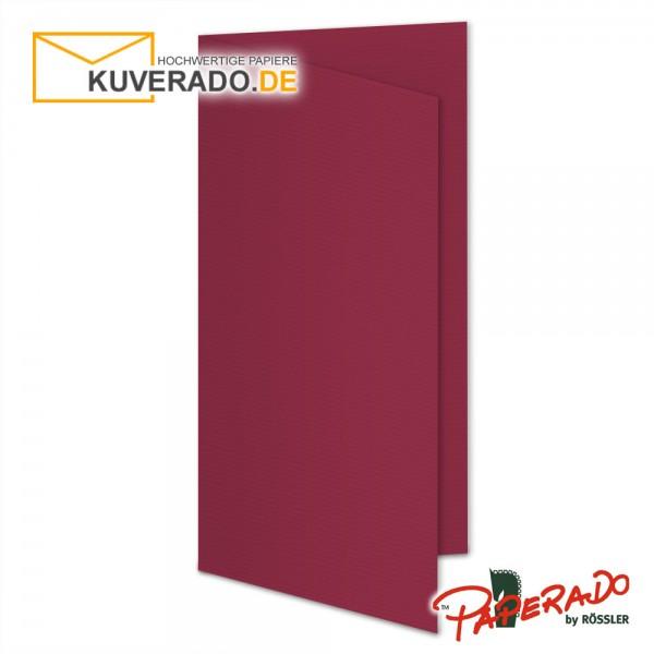 Paperado Karten in rosso rot DIN lang