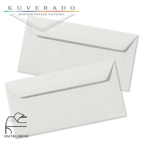 Graue Briefumschläge (Silbergrau) im Format DIN lang