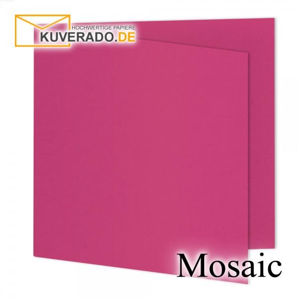 Artoz Mosaic neon pink Doppelkarten quadratisch