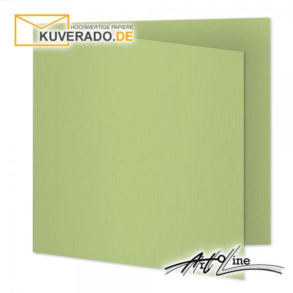 Artoz Artoline Karten/Doppelkarten in pistache-grün quadratisch