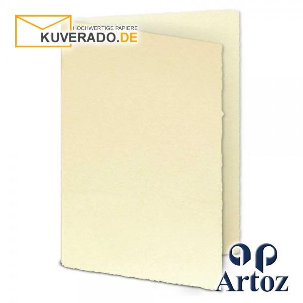 ARTOZ Rondo - Faltkarten aus Büttenpapier im Format DIN A5 chamois