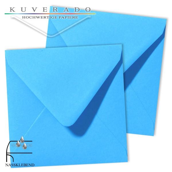 blaue Briefumschläge im Format quadratisch 120x120 mm
