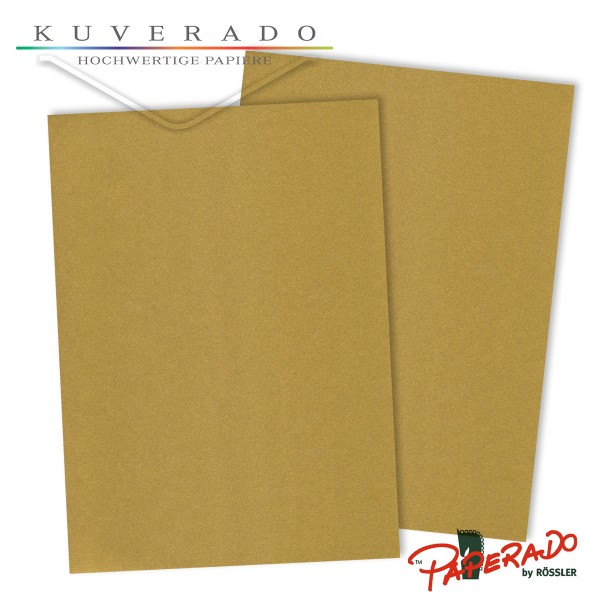 Paperado Briefpapier in gold DIN A4 100 g/qm