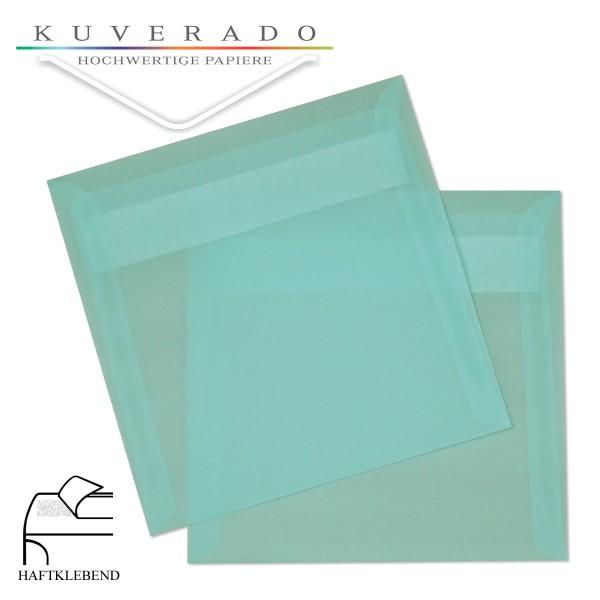 transparente Versandtaschen in quadratisch eisblau