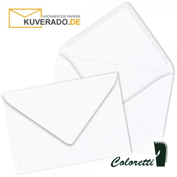 Weiße DIN C7 Briefumschläge von Coloretti