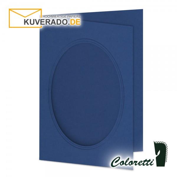 Blaue Passepartoutkarten in jeans 220 g/qm von Coloretti