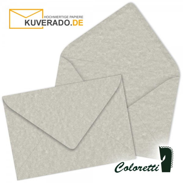 Grau marmorierte DIN C7 Briefumschläge in wolkengrau von Coloretti