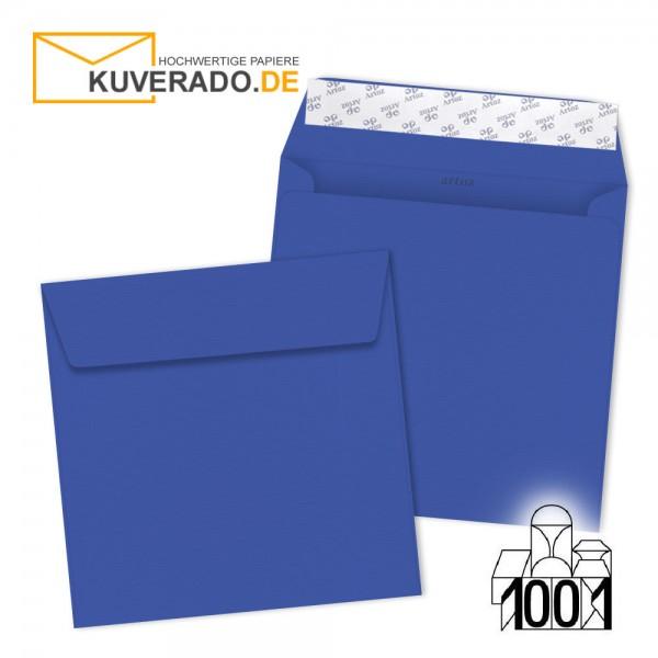 Artoz 1001 Briefumschläge majestic-blue quadratisch 160x160 mm
