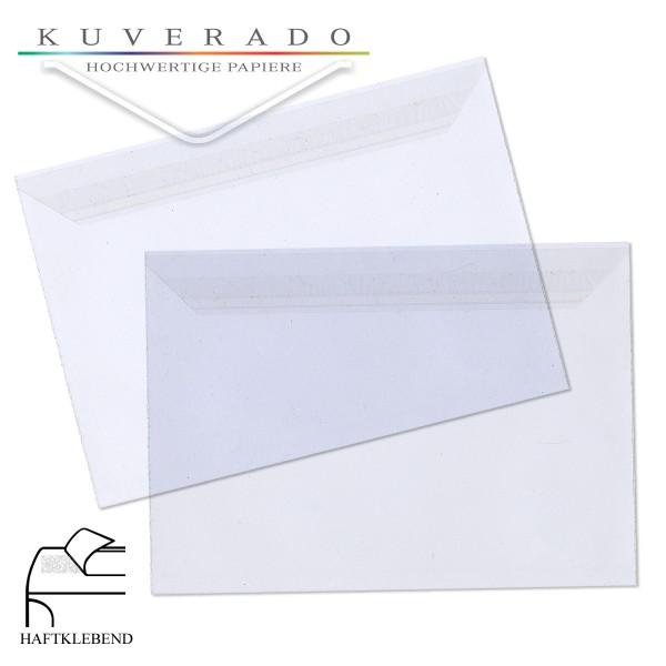 transparente Folienumschläge aus PP im Format DIN C6