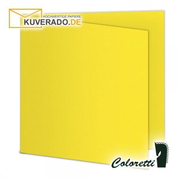 Goldgelbe Doppelkarten in quadratisch 220 g/qm von Coloretti