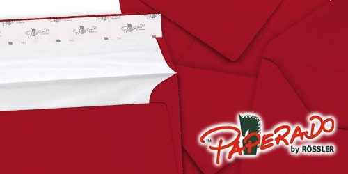 rote Briefumschläge von Rössler Papier - Paperado