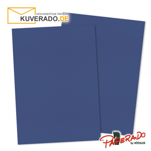 Paperado Briefkarton in jeansblau DIN A4 220 g/qm
