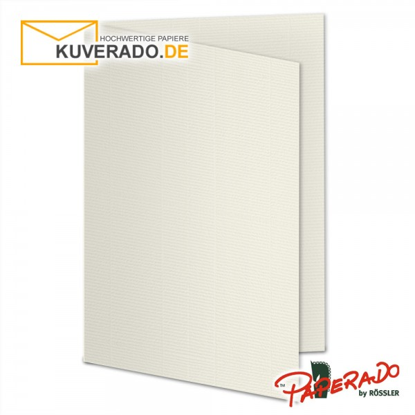 Paperado Karten in beige ivory DIN A5