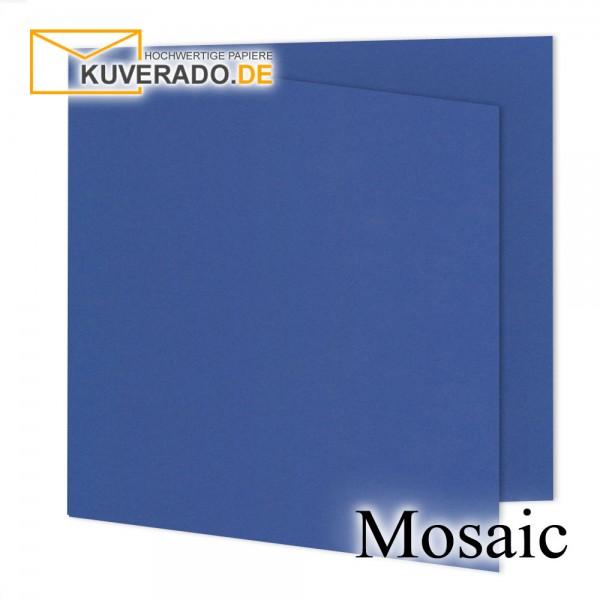 Artoz Mosaic marineblaue Doppelkarten quadratisch