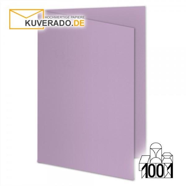 Artoz 1001 Faltkarten flieder DIN B6 mit Wasserzeichen