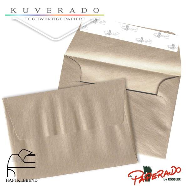 Paperado Briefumschläge in taupe grau metallic DIN B6 haftklebend