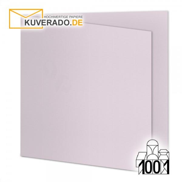 Artoz 1001 Faltkarten quarzrosa quadratisch 155x155 mm mit Wasserzeichen