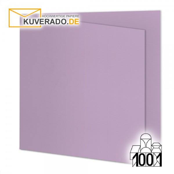 Artoz 1001 Faltkarten flieder quadratisch 155x155 mm mit Wasserzeichen
