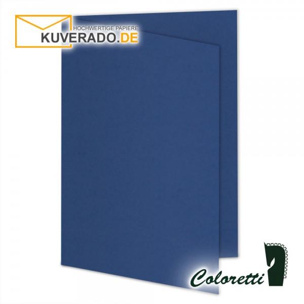 Blaue Doppelkarten in jeans 220 g/qm von Coloretti