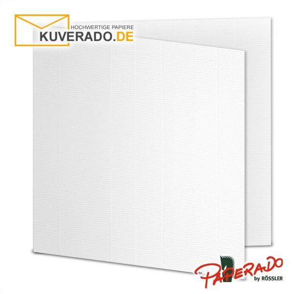 Paperado Karten in weiß quadratisch