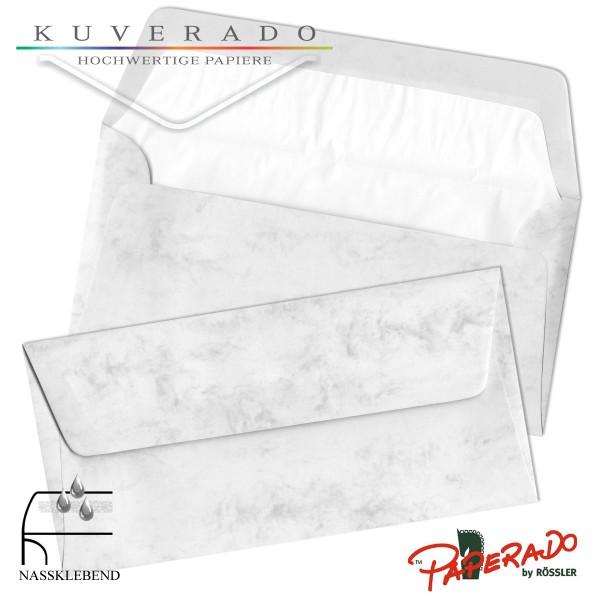 Paperado marmorierte Briefumschläge in grau DIN lang