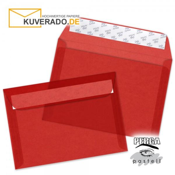 Artoz transparente Briefumschläge rot DIN C6