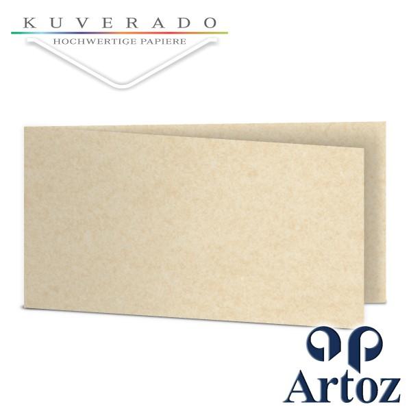Artoz Rustik marmorierte Karten weiß DIN lang