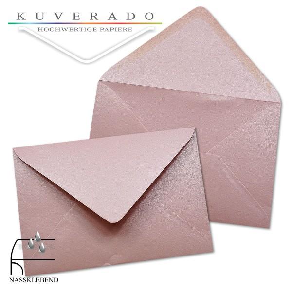 glänzende metallic Briefumschläge in rosa im Format 120 x 180 mm