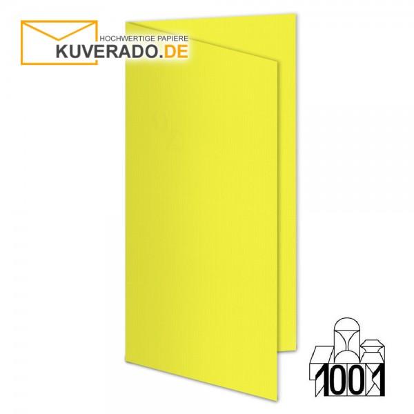 Artoz 1001 Faltkarten maisgelb DIN lang Hochformat mit Wasserzeichen