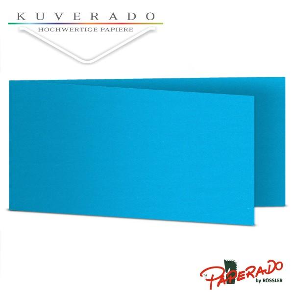 Paperado Karten in pacifik blau DIN lang Querformat
