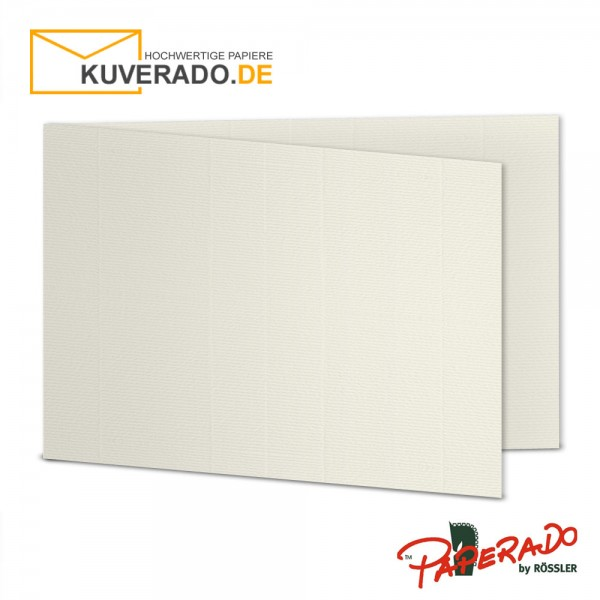 Paperado Karten in ivory beige DIN B6 Querformat